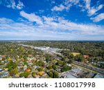 aerial view of suburban houses... | Shutterstock . vector #1108017998