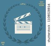 clapperboard icon symbol | Shutterstock .eps vector #1108028816