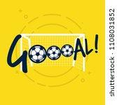 goal sign for football or... | Shutterstock .eps vector #1108031852
