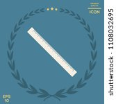 the long ruler icon   Shutterstock .eps vector #1108032695