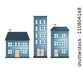 vector buildings | Shutterstock .eps vector #110804168