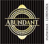abundant gold badge or emblem   Shutterstock .eps vector #1108042826