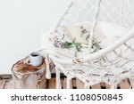 summer hygge scene with hammock ... | Shutterstock . vector #1108050845