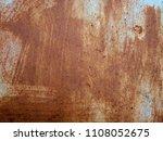 rust on the steel sheet | Shutterstock . vector #1108052675