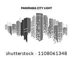 panorama city building... | Shutterstock .eps vector #1108061348