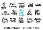 hand drawn quotes lettering... | Shutterstock .eps vector #1108074158