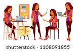 office worker vector. woman.... | Shutterstock .eps vector #1108091855
