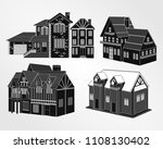 houses icons. vector template... | Shutterstock .eps vector #1108130402