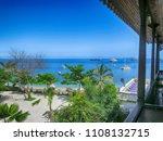 sea beach from hotel balcony ...   Shutterstock . vector #1108132715