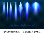 set of neon searchlights on a... | Shutterstock .eps vector #1108141958