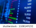 stock market graph analysis.... | Shutterstock . vector #1108149152