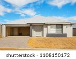 new suburban house in the final ... | Shutterstock . vector #1108150172