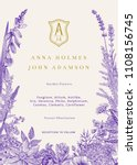 wedding invitation. vector... | Shutterstock .eps vector #1108156745