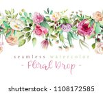 beautiful watercolor flowers  ... | Shutterstock . vector #1108172585
