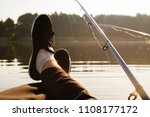 summer relaxation on the lake... | Shutterstock . vector #1108177172