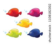 isolated river fish. set of... | Shutterstock .eps vector #1108182302