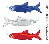 isolated river fish. set of...   Shutterstock .eps vector #1108182308