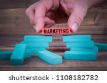 marketing business concept with ... | Shutterstock . vector #1108182782