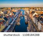 copenhagen  denmark nyhavn new... | Shutterstock . vector #1108184288