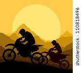 motorbike riders motorcycle... | Shutterstock .eps vector #110818496