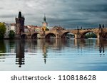 Charles Bridge With Reflection...