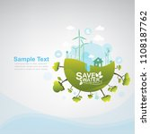 ecology vector save water... | Shutterstock .eps vector #1108187762