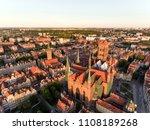 aerial gdansk old town skyline... | Shutterstock . vector #1108189268