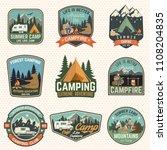 set of summer camp badges.... | Shutterstock .eps vector #1108204835