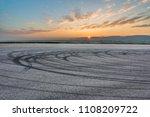 sunset asphalt asphalt tire...   Shutterstock . vector #1108209722