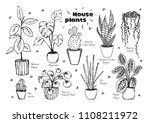 set of hand drawn vectors of ... | Shutterstock .eps vector #1108211972