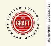 modern craft beer drink vector...   Shutterstock .eps vector #1108231418