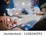 internet of things  iot ... | Shutterstock . vector #1108246592