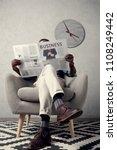 stylish african american man... | Shutterstock . vector #1108249442