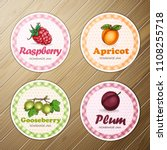 vector set of four round labels ... | Shutterstock .eps vector #1108255718