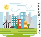 cityscape scene eco friendly | Shutterstock .eps vector #1108269092