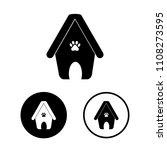 dog house icon set.vector... | Shutterstock .eps vector #1108273595