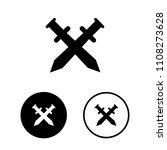 sword cross icon set.vector... | Shutterstock .eps vector #1108273628