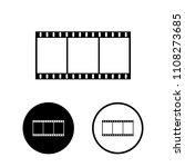 film strip icon set.vector... | Shutterstock .eps vector #1108273685