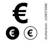 euro icon set.vector... | Shutterstock .eps vector #1108273688