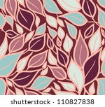 seamless doodle leaves pattern. | Shutterstock .eps vector #110827838