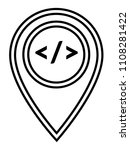code sign and map pointer | Shutterstock .eps vector #1108281422