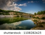 scenic view on flooded quarry ...   Shutterstock . vector #1108282625
