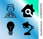 vector icon set about home with ... | Shutterstock .eps vector #1108285592