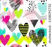 seamless pattern for girls.... | Shutterstock .eps vector #1108292732