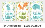 vector set illustration with... | Shutterstock .eps vector #1108303505