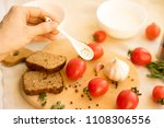 red hot pepper with peppercorns ...   Shutterstock . vector #1108306556