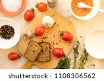 parsley   garlic  tomatoes and...   Shutterstock . vector #1108306562