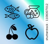 vector icon set about food with ... | Shutterstock .eps vector #1108307012