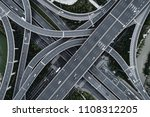 aerial view of highway and...   Shutterstock . vector #1108312205