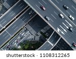 aerial view of highway and... | Shutterstock . vector #1108312265